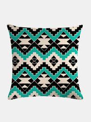 Vintage Geometric Pattern Linen Cushion Cover Home Sofa Art Decor Throw Pillowcase