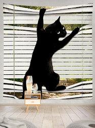 Black Cat Pattern Tapestry Art Home Decoration Living Room Bedroom Decoration