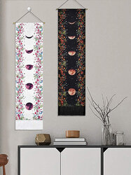 Moon And Floral Overlay Print Pattern Art Home Decoration Living Room Bedroom Decoration