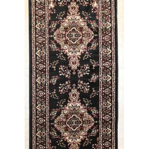 Stevens Oriental Classic Black/Beige Indoor Area Rug