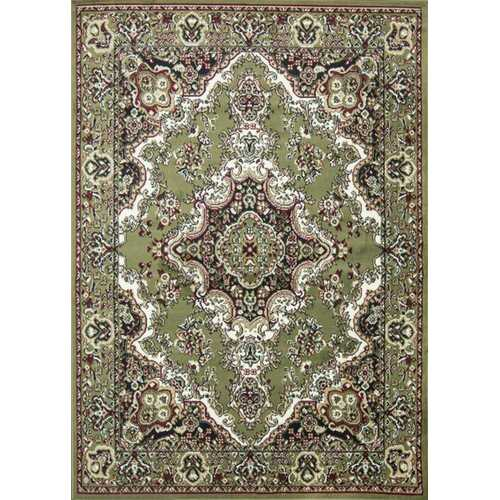 Stehouse Oriental Classic Hand-Tufted Green Area Rug