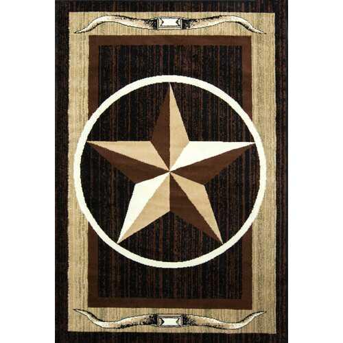 Star Brown/Beige Area Rug