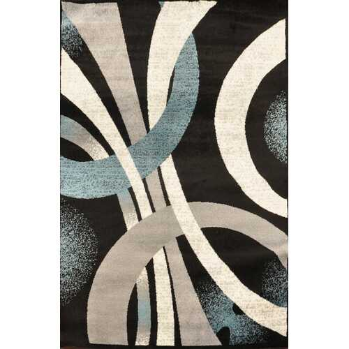 Alida Lopped Gray/Blue Area Rug 5 ft. by 7 ft.