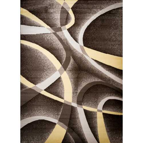 Aquilar Brown/Beige Area Rug 5 ft. by 7 ft.
