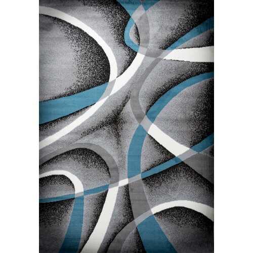 Katelynn Gray/Blue/White Area Rug 3 ft. by 5 ft.