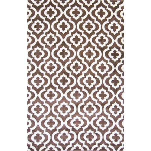 Mirror Rehash Brown Area Rug 8 ft. by 10 ft.