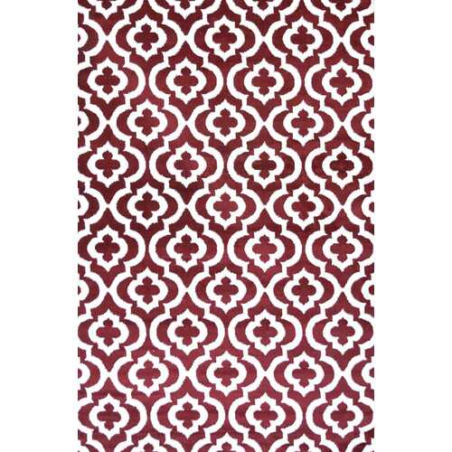 Mirror Rehash Red Area Rug 5 ft. by 7 ft.