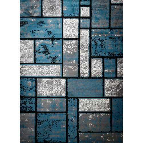 Giuliana Dusty Brick Light Blue/Gray Area Rug 3 ft. by 5 ft.