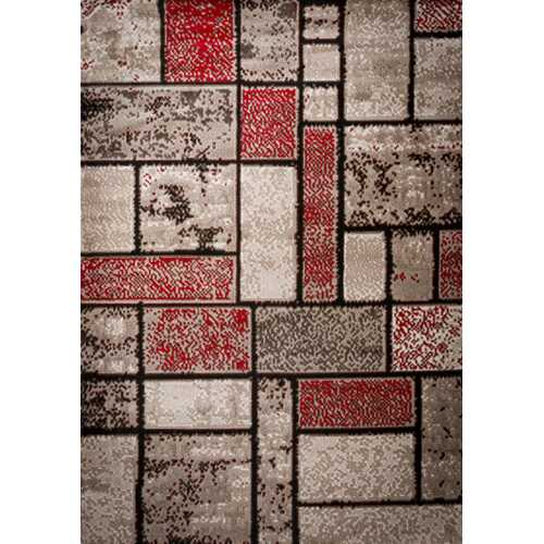 Apodaca Dusty Brick Red/Brown Area Rug 5 ft. by 7 ft.