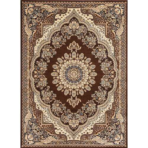 Msrugs Traditional Oriental Medallion Brown Beige Area Rug Persian Style Rug 1000