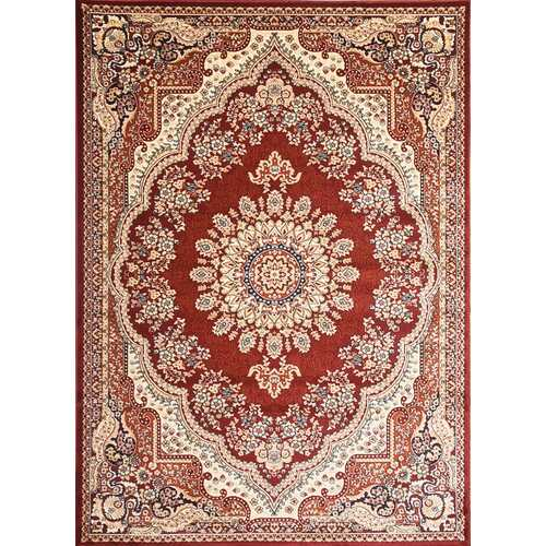 Msrugs Traditional Oriental Medallion Red Beige Area Rug Persian Style Rug 1100