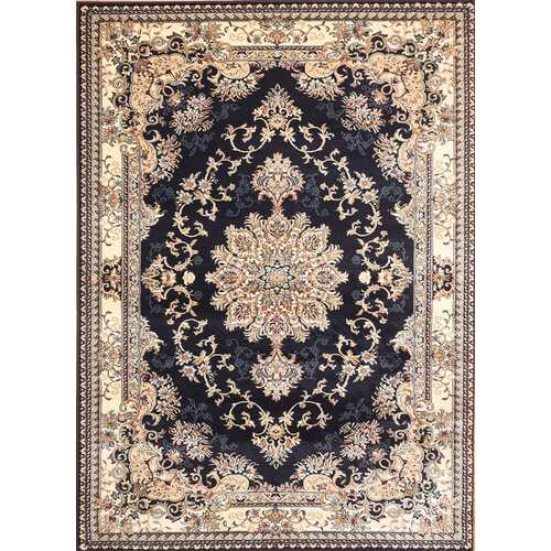 Msrugs Traditional Oriental Medallion Navy Beige Area Rug Persian Style Rug 300
