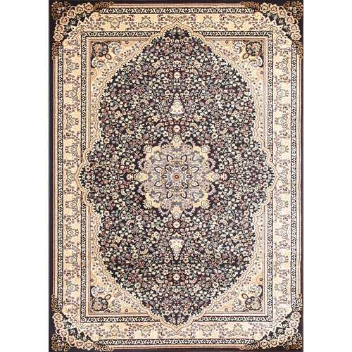 Msrugs Traditional Oriental Medallion Navy Beige Area Rug Persian Style Rug 750