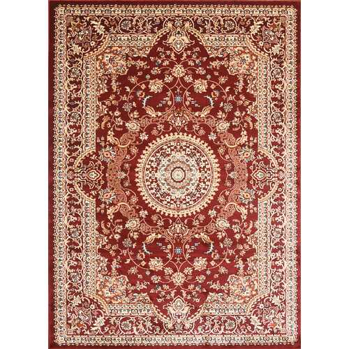 Msrugs Traditional Oriental Medallion Red Beige Area Rug Persian Style Rug 950