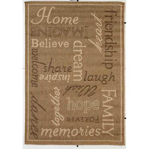 Home Family Indoor/Outdoor Light Brown Rug