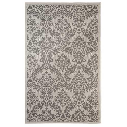 Floral Indoor/Outdoor Gray Rug