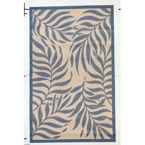 Botanical Indoor/Outdoor Dark Blue Rug
