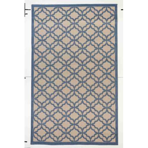 Fort Trellis Indoor/Outdoor Dark Blue Rug