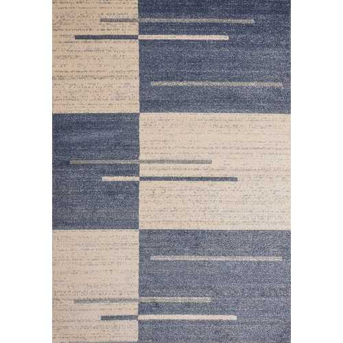 Piano String Blue Beige Area Rug 8 ft. by 10 ft.