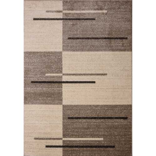 Piano String Brown Beige Area Rug 5 ft. by 7 ft.