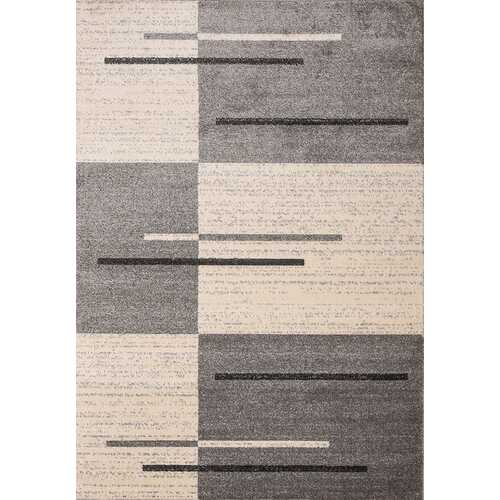 Piano String Gray Beige Area Rug 3 ft. by 5 ft.