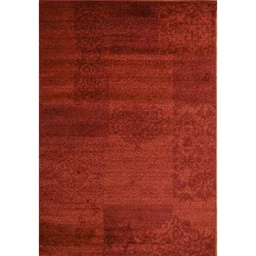 Jena Wave Red Beige Area Rug 8 ft. by 10 ft.