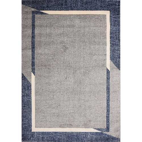 Fine Sleek Blue Beige Area Rug 8 ft. by 10 ft.