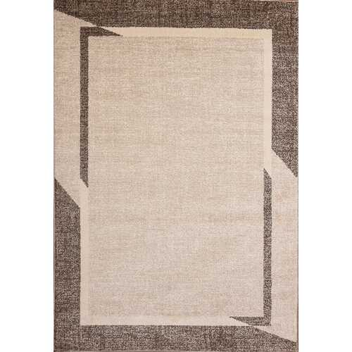 Fine Sleek Brown Beige Area Rug 5 ft. by 7 ft.