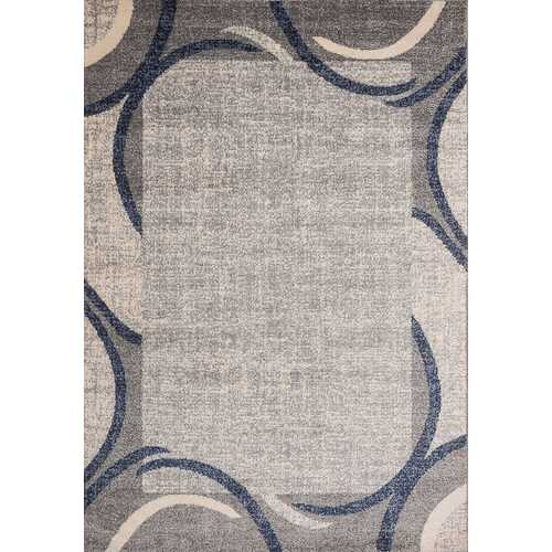 Ocean Crest Blue Beige Area Rug 8 ft. by 10 ft.