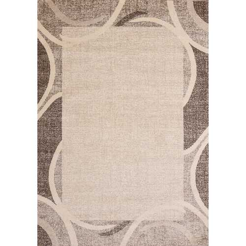 Ocean Crest Brown Beige Area Rug 5 ft. by 7 ft.