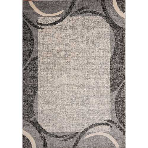 Ocean Crest Gray Beige Area Rug 5 ft. by 7 ft.
