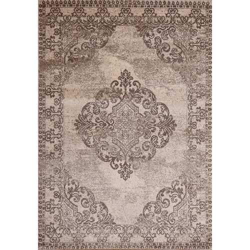 Hena Glory Brown Beige Area Rug 3 ft. by 5 ft.