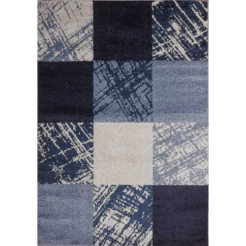 Caramel Drizzle Blue Beige Area Rug 8 ft. by 10 ft.