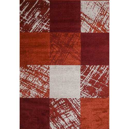 Caramel Drizzle Red Beige Area Rug 5 ft. by 7 ft.