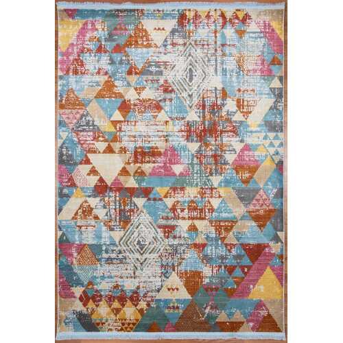 Geometric vibrant Vintage Area Rug