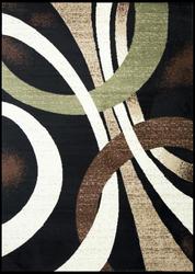 Coleen Abstract Black/Beige Area Rug