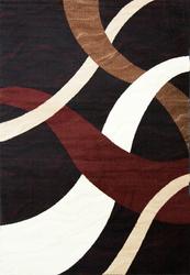 Sequenced Neutral Black/Beige Area Rug