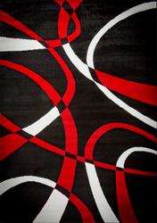 Katelynn Black/White/Red Area Rug 3 ft. by 5 ft.