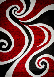 Mckenzie Red/Black/White Area Rug 8 ft. by 10 ft.