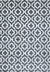 Mirror Rehash Gray/White Area Rug 5 ft. by 7 ft.