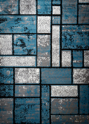 Giuliana Dusty Brick Light Blue/Gray Area Rug 8 ft. by 10 ft.