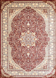 Msrugs Traditional Oriental Medallion Red Beige Area Rug Persian Style Rug 800