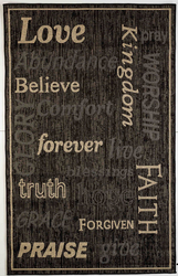 Love Forever Indoor/Outdoor Black Rug