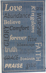 Love Forever Indoor/Outdoor Blue Rug