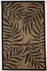 Botanical Indoor/Outdoor Black Rug