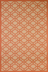Fort Trellis Indoor/Outdoor Coral Rug