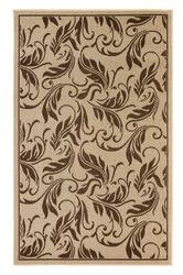 Tropic Leaves Indoor/Outdoor Dark Brown Rug