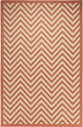 Chevron Design Indoor/Outdoor Coral Area Rug