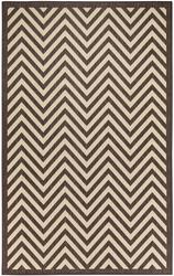 Chevron Design Indoor/Outdoor Dark Brown Area Rug