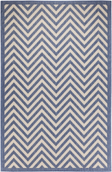 Chevron Design Indoor/Outdoor Dark Blue Area Rug